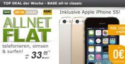 Deal der Woche bei modeo.de: iPhone 5s OHNE Zuzahlung mit All-Net Flat für nur 33€ im Monat