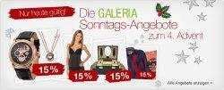 Galeria Kaufhof Sonntags–Angebote zum 4.Advent