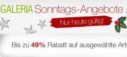 Galeria Kaufhof Sonntagsangebote bis zu 49% Rabatt