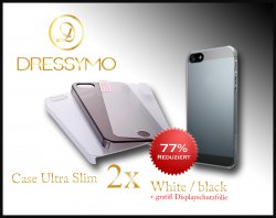 iPhone 5, 5s Deal, 2 x Slim Case + gratis Displayschutzfolie