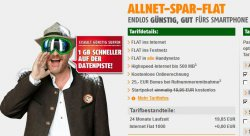 Jetzt mit 1GB anstatt 500MB Datenflat: Die All-NET Flat von klarmobil.de für nur 19,85€ im Monat