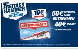 [Lokal] Freitagsaktion bei Toom: 20% Sparen: 50€ Toom Baumarkt-Gutschein für 40€