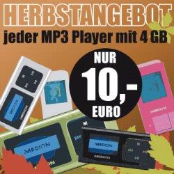[Lokal] 4GB MP3-Player für 10 Euronen bei Medion Fabrikverkauf Essen