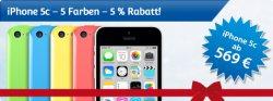 mStore.de: iPhone 5c in 5 Farben jetzt mit Gutscheincode 5% sparen !