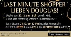 Parfüm rechtzeitig zum Heiligabend bestellen bei Douglas Gutscheine – ohne Aufpreis bis Sonntag 12 Uhr!