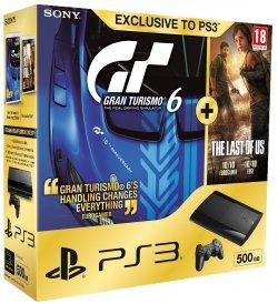 PS3 Super Slim mit 500GB + Gran Turismo 6 + The Last of Us für ~242,63€ (statt 374€) @amazon.co.uk