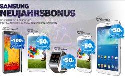 Samsung Neujahrsbonus: bis 100€ Cashback auf Samsung Galaxy Smartphone