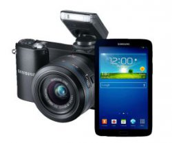 Samsung NX 1100+20-50mm + Galaxy Tab 3 7.0 8GB + Photoshop Lightroom 4 für 349€ @saturn