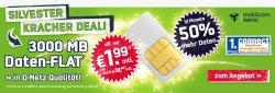 Silvester Kracher Deal @getmobile.de – 3 GB Daten-Flatrate im Vodafone-Netz für 1,99€ mtl.