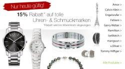 Sonntagsangebote bei Galeria Kaufhof, 15 % Rabatt auf Uhren & Schmuck, nur heute