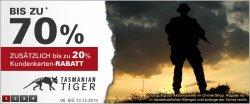 Tasmanian Tiger Artikel bis 70% reduziert @asmc.de
