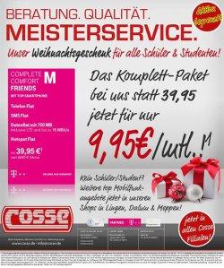 Telekom Complete Comfort M Friends – 9,95€ (Telefonflat, SMS-Flat, 750MB LTE, Hotspot-Flat) SIM only @facebook