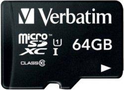 Verbatim microSDXC 64GB Premium Class 10 für 10,40€ zzgl. Versand (Idealo 41,37€) @ITmedia24