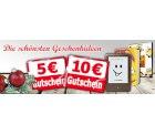 Weihnachts – Gutscheine über 5 €uro & 10 €uro @ bücher.de