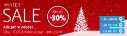 Winter Sale mit bis zu 30% Rabatt auf Schuhe, Taschen & Accessoires @Mirapodo.de