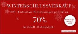 Winterschlussverkauf mit bis zu 70% Rabatt bei Ulla Popken