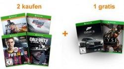 Xbox One-Games: 2 bestellen, 1 kostenlos dazu @Amazon.de