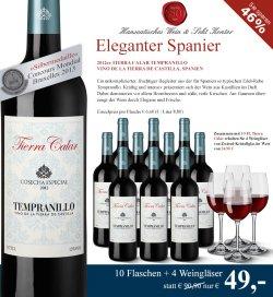 10 Fl. 2012er Tierra Calar für 49 Euro statt 90,90 Euro + 4 Weingläser gratis bei Hawesko.de