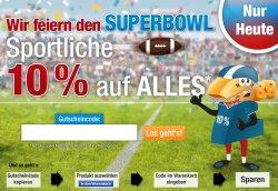 10% Gutscheincode zum Superbowl 2014 @Plus.de