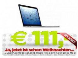 111 Euro-Gutschein auf ausgewählte Apple-Produkte @MacTrade.de