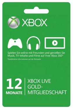 12 monatige Mitgliedschaft XBOX Live Gold für nur 33,33€ @Amazon