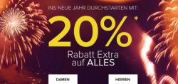20% Extra Rabatt auf alles bei Dress for less