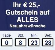 2x Gutscheine 25€ Gutschein ( MBW 200€ ) und 15€ bei Newsletteranmeldung @quelle.de