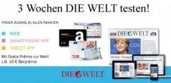 3 Wochen DIE WELT lesen im Abo für effektiv nur 5,90€! @magclub.de