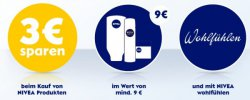 3€ Sofortrabatt bei Kauf von Niveaprodukte im Wert von 9€