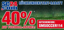 40% auf Fussball-Artikel zum Rückrundenstart @SC24.com