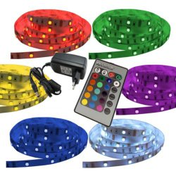 5 Meter mehrfarbige LED Streifen inkl. Controller, Fernbedienung & Netzteil für 19,98€ VSK frei@ ebay
