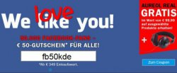 50€ Gutschein bei Teufel.de + gratis Teufel Aureol Real Kopfhörer auf ausgeählte Produkte, bis 29.01.2014