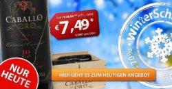 6 Flaschen Caballo d'Oro Wein gibt es heute für nur 36,44€ statt 95,80€ bei weinvorteil.de mit Gutschein