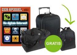 7 Printausgaben Der Spiegel frei Haus + Reisetaschenset für 19,90 Euro @flyamo.de