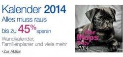Amazon: Alles muss raus: Kalender 2014 reduziert (versandkostenfrei)