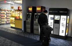 Amazon-Verkaufsautomaten am Flughafen
