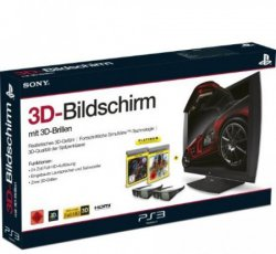 Bei redcoon: Sony 24 PS3 3D-Bildschirm mit Full-HD + 2x 3D Brillen + Games für nur 199€ [Idealo: 259,83€]