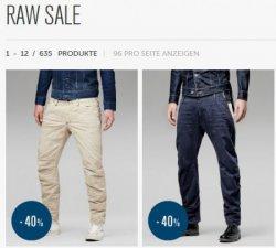 Bis zu 40% Rabatt im G-STAR RAW Sale