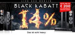 Black Rabatt bei teufel, 14% auf ausgewählte Produkte, z.B: komplettes Heimkino für 773,99 €uro