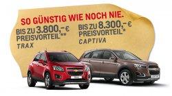 Chevrolet Ausverkauf auf chevrolet.de, Fahrzeuge ab 5000€ (Preisvorteile von über 60%)