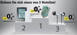 Conrad.de: 3 Gutscheincodes für Gratiszugaben MBW 20€-Countdownd LCD Uhr, 69€- Wetterstation, 99€ Sony Kopfhörer