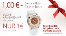 Damenuhr für 1€ + zzgl. Versand, günstiger Schmuck + Gutschein @silvity.de