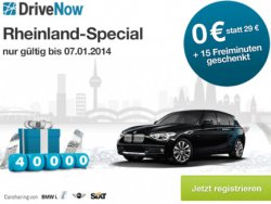 Für Köln & Düsseldorf: Jetzt bei DriveNow kostenlos anmelden + 15 Freiminuten – nur bis 7.Januar