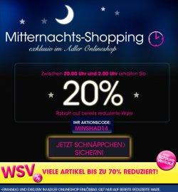 Mitternachtsshopping bei Adler Modemarkt mit 20% Rabatt auf bereits reduzierte Ware