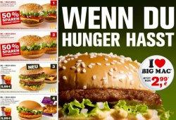 Neue McDonald's Gutscheine  – vom 06. bis 26. Januar 2014 gültig