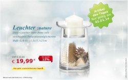 Neujahrsangebot, Leuchter nature für 19,99 € (-12 %) @Netto Online Shop