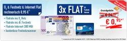 o2 Flat M (o2-Flat,Festnetz-Flat,Festnetznummer) inkl. Internetflat effektiv für 0,95 Euro mtl. oder ohne Internetflate effektiv 0€@ handybude