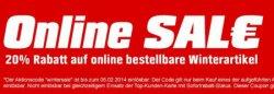 OBI 20% Gutschein auf ausgewählte Artikel, gültig bis zum  04 Febr. 2014 @OBI.de