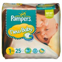 Pampers New Baby Gr. 1 Newborn (2-5 kg) 25 Stück für 1,99€ zzgl- Versandkosten [idealo 3,99€] mit Gutschein @baby-markt.de