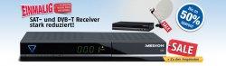 Receiver-Sale bei MEDION mit bis zu 50% Rabatt – z.B. Dig. HD Twin Tuner P24027 für 49,95€ (Idealo 79,95€)